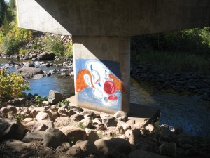 cascade river clown